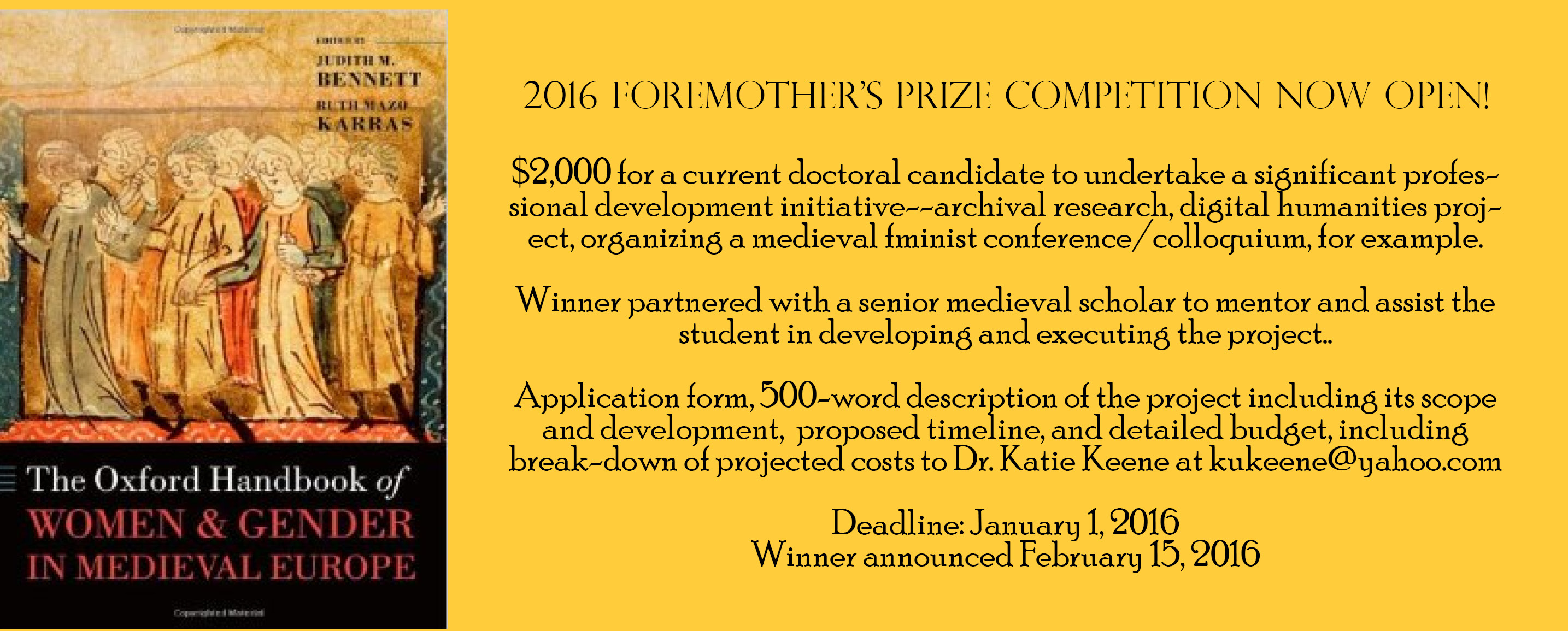 Foremother's Prize 2016